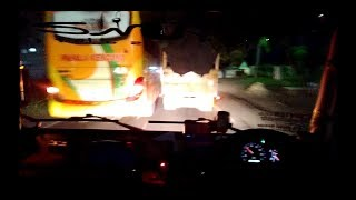 Truck Cabe Balapan dengan Bus Pahala kencana