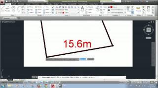 getlinkyoutube.com-اسقاط قطعة أرض معلومة الابعاد من خريطة جوجل إلى أوتوكاد بأبعادها الحقيقية