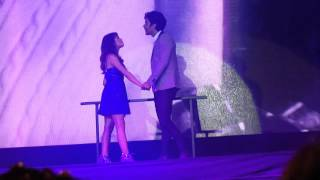 Lali y Mariano cantando juntos
