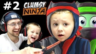 getlinkyoutube.com-Dad & Chase play Clumsy Ninja Pt 2:  When Factory Balls Interrupt Lvl 5 Journey! (FGTEEV GAMEPLAY)