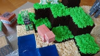 getlinkyoutube.com-How to make a Minecraft cake - with yoyomax12
