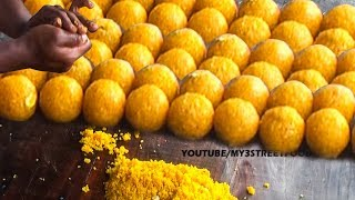 getlinkyoutube.com-MOTICHUR LADDU  | FAMOUS SWEET IN INDIA  | Rajahmundry STREET FOOD |