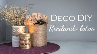 getlinkyoutube.com-DIY de Decoración - 3 maneras de reciclar latas