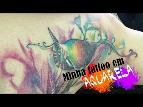 Minha tatuagem em aquarela! - Por Francisco Lorenço