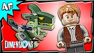 getlinkyoutube.com-Lego Dimensions JURASSIC WORLD Team Pack 3-in-1 Build Review 71205