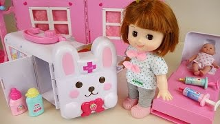 Baby doll Rabbit ambulance Hospital toys play with Pororo