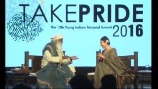 getlinkyoutube.com-Take PRIDE 2016: - Manisha Koirala in dialogue with Sadhguru Jaggi Vasudev
