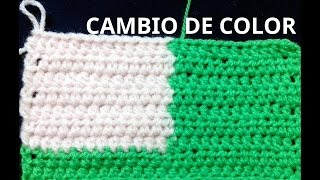 getlinkyoutube.com-Cambio de color en el tejido crochet o ganchillo tutorial paso a paso.