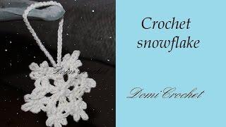 getlinkyoutube.com-Easy crochet snowflake