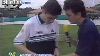 getlinkyoutube.com-Ortega, Batistuta, Simeone y Zanetti en VideoMatch Francia 1998 FUTBOL RETRO TV