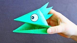 getlinkyoutube.com-Оригами поделка голова ящерицы