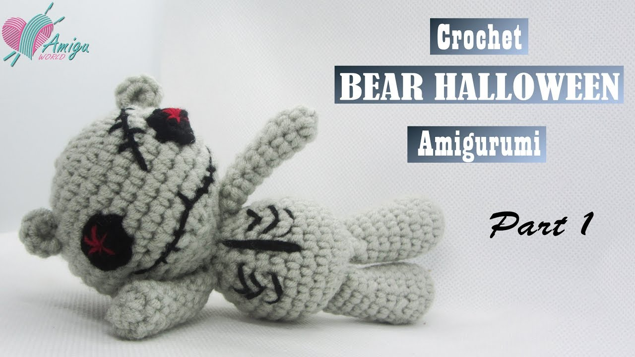 FREE Pattern – How to crochet a BEAR HALLOWEEN (P.1/2)