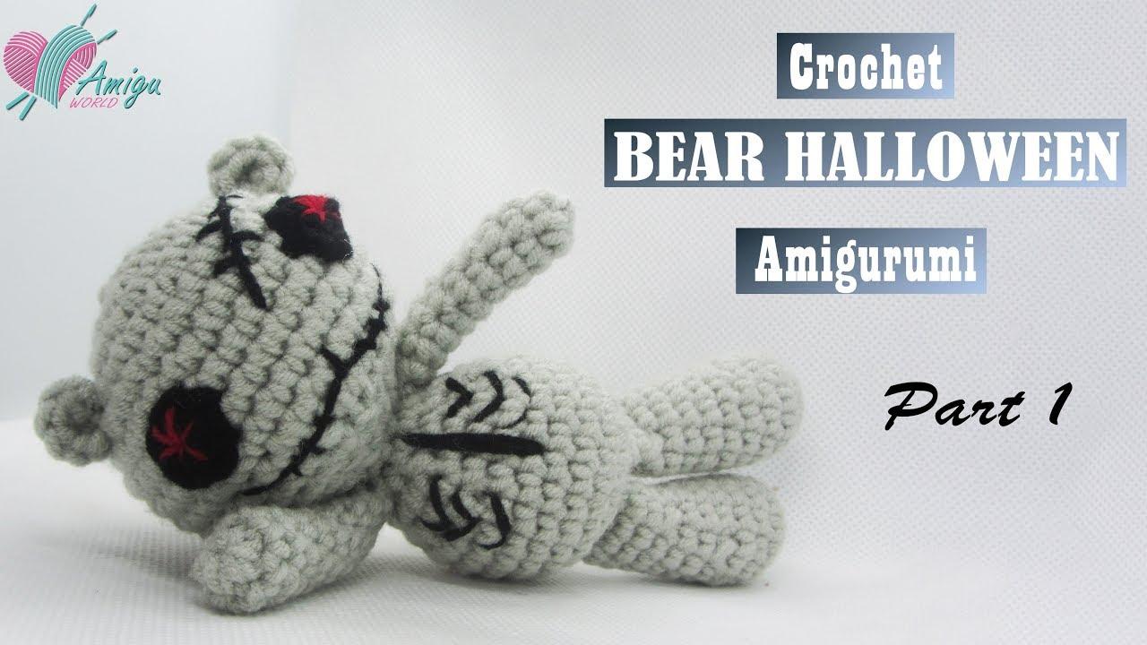 FREE Pattern – How to crochet a BEAR HALLOWEEN (P.1)