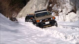 getlinkyoutube.com-snow attack 2015/2/7 FJ Cruiser Off-Road FHSS49