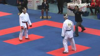 getlinkyoutube.com-Karate EM Zürich - Day 1 Kumite Cadets Male & Female