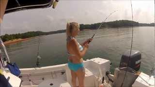 getlinkyoutube.com-Striper fishing and Bikinis