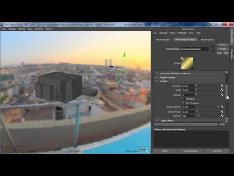 Arnold Maya Rendering Tutorial - basic interior sunlight