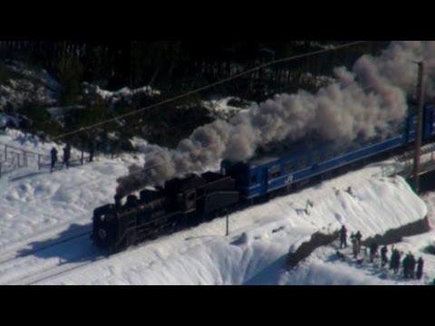 雪原を走る「SL北びわこ号」