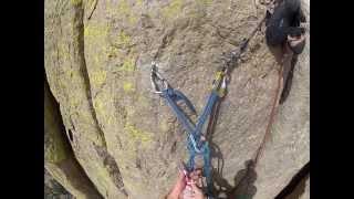 getlinkyoutube.com-Climbing the Leaning Column - Devil's Tower National Monument