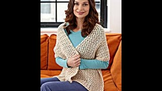 How to Crochet a Shawl -# Lion Brand Pattern- - Yolanda Soto Lopez