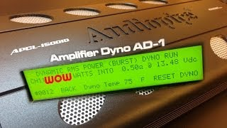 getlinkyoutube.com-Audiopipe APCL-15001D SMD Amp Dyno Dynamic Power at 0.5 ohms WOW