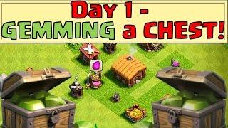 getlinkyoutube.com-Clash of Clans - How far does a CHEST OF GEMS go!? (Day 1+)