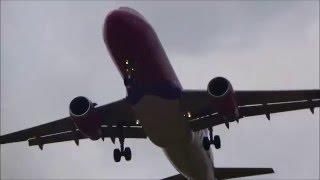 Pyrzowice airport -Start, lądowanie samolotów
