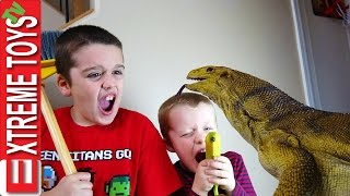 getlinkyoutube.com-The Monitor Lizard Stow Away! Giant Wild Reptile Sneaks Home with the Boys.