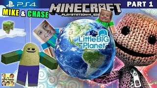 getlinkyoutube.com-Mike & Chase play MINECRAFT PS4:  Little Big Planet 3 World Exploration (FGTEEV Part 1 Gameplay)