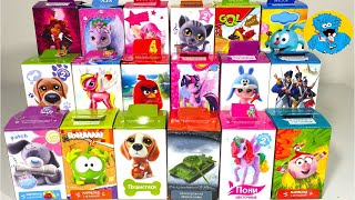 getlinkyoutube.com-18 Игрушек Сюрпризов,Unboxing Sweet Box Surprise Angry Birds,My Little Pony,Cut the Rope
