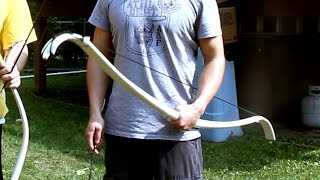 getlinkyoutube.com-How to Make: PVC+Fiberglass Recurve Bow (Mark I)