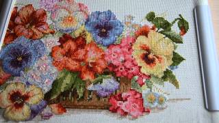"""getlinkyoutube.com-ТМ Мережка """"Садовые цветы"""".Отчет 4.Вышивка крестом."""