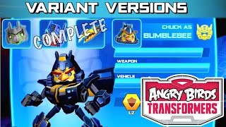 getlinkyoutube.com-Let's Play Updated Angry Birds Transformers -  Variant Versions Squad Complete