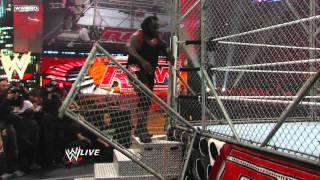 getlinkyoutube.com-Raw: Big Show vs. Alberto Del Rio - Raw Roulette Steel Cage