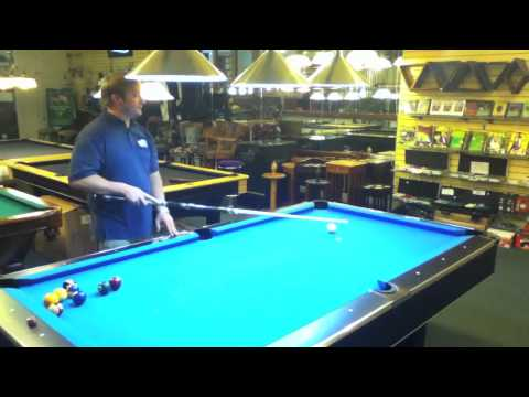 How To Shoot the Ball Down the Rail - Pool Techniques