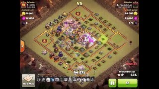 getlinkyoutube.com-TH10 Walking Queen Mass Witch Attack 3 Star TH11