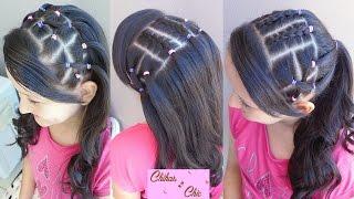 getlinkyoutube.com-Peinados con Banditas Elasticas (Cauchitos/Ligas - Parte 1) | Chikas Chic
