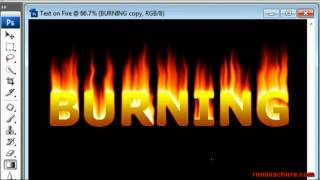 getlinkyoutube.com-Adobe Photoshop tutorial: Text on fire