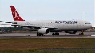 getlinkyoutube.com-Turkish Airlines A330-300 Takeoff from Helsinki | TC-JNH