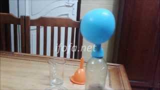 تجربة نفخ البالون بالخل