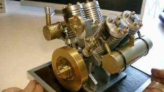 getlinkyoutube.com-V4 Vacuum engine,V4 Avaleur de flame,V4 Flammenfresser,V4 Flame licker