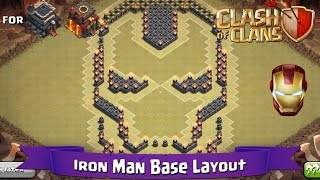 getlinkyoutube.com-Clash Of Clans: TH9 | TH10 | Fun Base Layout - Iron Man