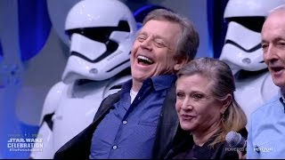 getlinkyoutube.com-Original Star Wars stars, new Stormtroopers appear at Celebration Anaheim for The Force Awakens