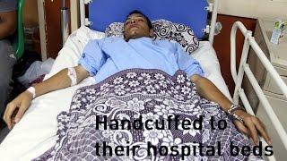getlinkyoutube.com-Migrants handcuffed to hospital beds after boat sinks