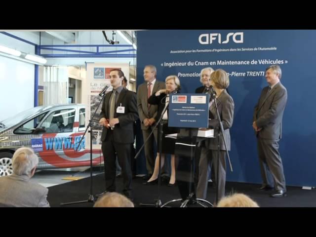 Cérémonie diplômes Ingénieur Automobile GARAC Promo 1 du 22 mai 2012