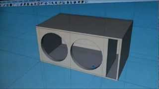 "getlinkyoutube.com-Dual 15"" Subwoofer Box Slot Ported Tuned to 32hz Venom"