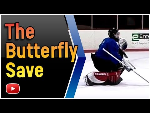 Hockey Goaltending - Butterfly Save and React to the Rebound-  Coach Richard Shulmistra