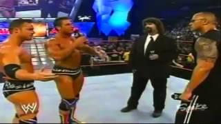 getlinkyoutube.com-The Rock Returns to help Mick Foley (2003)