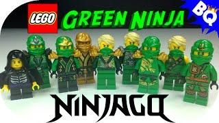 getlinkyoutube.com-LEGO Ninjago Green Ninja Lloyd Minifigure Comparison Collection