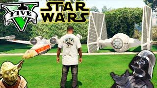 getlinkyoutube.com-STAR WARS EN LOS SANTOS !! GTA 5 PC MOD NAVES ESPACIALES!! GTA V MOD Makiman